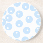 White and light blue retro pattern. Custom Coaster