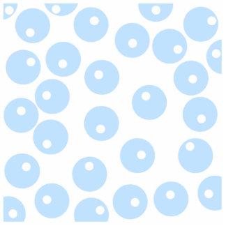 White and light blue retro pattern. statuette