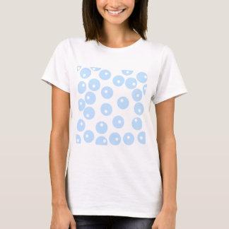 White and light blue retro pattern. T-Shirt