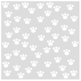 White and Light Gray Paw Print Pattern. Photo Cut Outs
