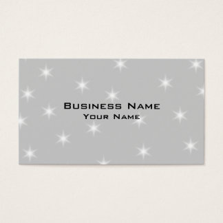 White and Light Gray Star Pattern. Business Card