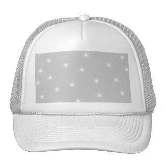 White and Light Gray Star Pattern Hats
