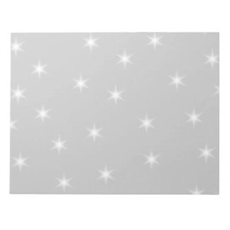 White and Light Gray Star Pattern Scratch Pad