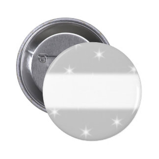White and Light Gray Star Pattern. Pinback Button