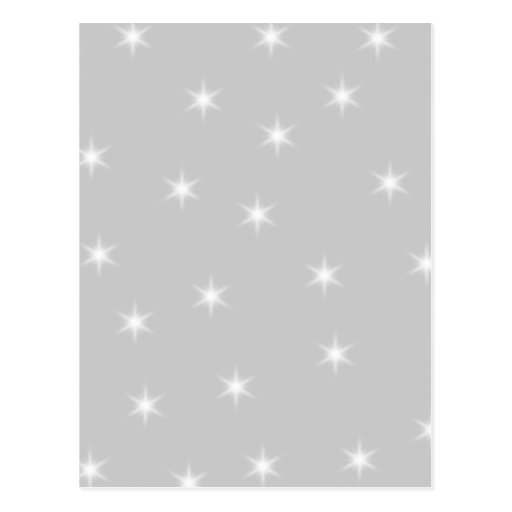 White and Light Gray Star Pattern. Post Cards
