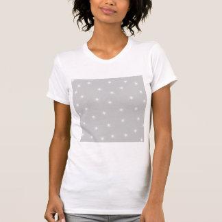 White and Light Gray Star Pattern. Tshirt
