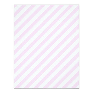 White and Light Pink Stripes. 4.25x5.5 Paper Invitation Card