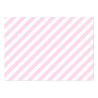 White and Light Pink Stripes. Business Card Template