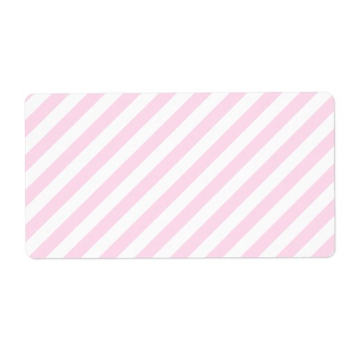 White and Light Pink Stripes. Labels
