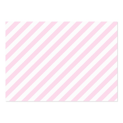 White and Light Pink Stripes. Large Business Card