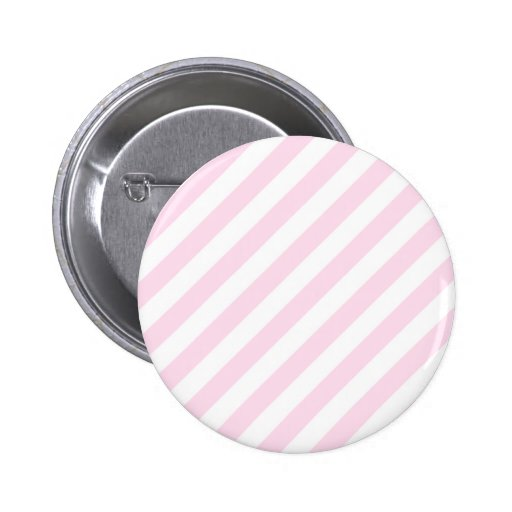 White and Light Pink Stripes. Pinback Button