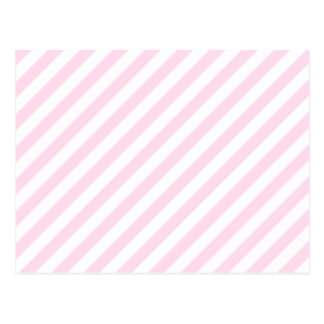 White and Light Pink Stripes Post Cards