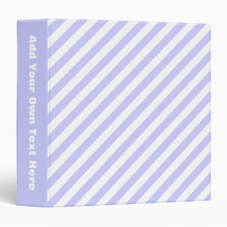 White and Light Purple Stripes. Binder