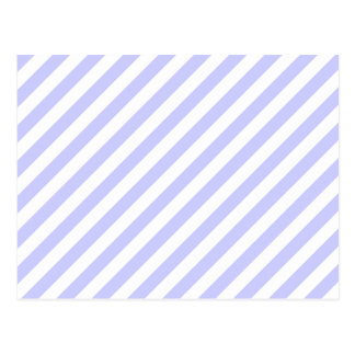 White and Light Purple Stripes. Postcard