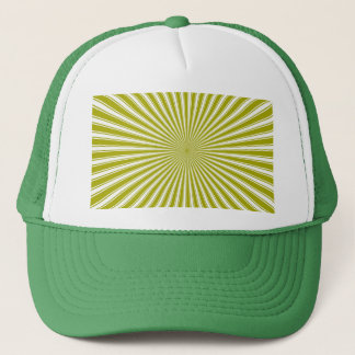 White and Lime Funky Striped Abstract Art Trucker Hat