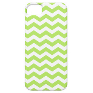 White and Lime Green Chevron Stripes iPhone 5 Case