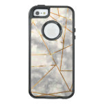 White And Marble With Faux Gold Foil Shapes Otterbox Iphone 5/5s/se Case at Zazzle