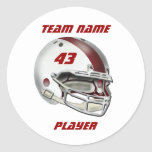 White and Maroon Football Helmet Stickers