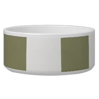 White and Moss Square tile Pet Bowl