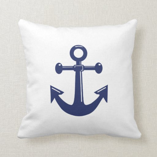 white and navy blue nautical wedding pillows pillow zazzle. Black Bedroom Furniture Sets. Home Design Ideas