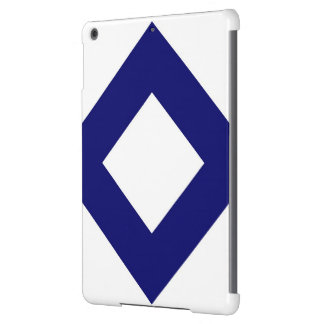 White and Navy Diamond Pattern iPad Air Covers