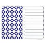White and Navy Diamond Pattern Journals