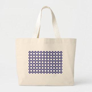 White and Navy Diamond Pattern Jumbo Tote Bag