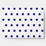 White and Navy Polka Dots Envelopes
