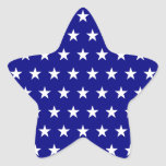 White and Navy Star Pattern Sticker