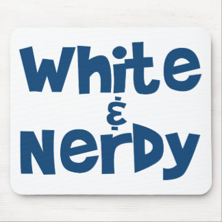 White and Nerdy Mouse Pad