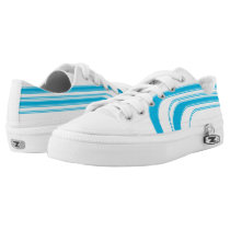 White and Ocean Blue Sojourn Max Low-Top Sneakers