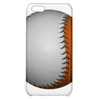 White and Orange Baseball Cover For iPhone 5C