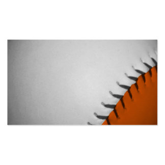 White and Orange Baseball Double-Sided Standard Business Cards (Pack Of 100)