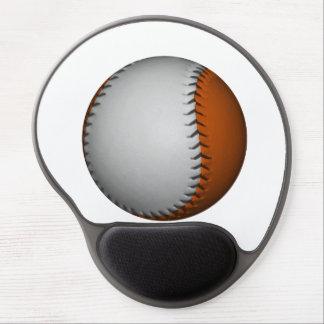 White and Orange Baseball Gel Mouse Pad