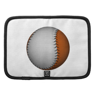 White and Orange Baseball Planners