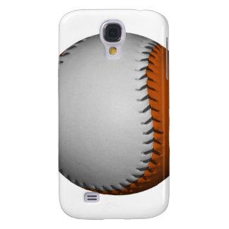 White and Orange Baseball Samsung Galaxy S4 Cases
