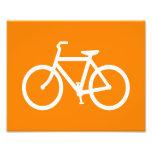 White and Orange Bike Photographic Print