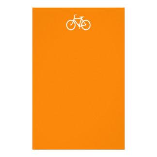 White and Orange Bike Stationery