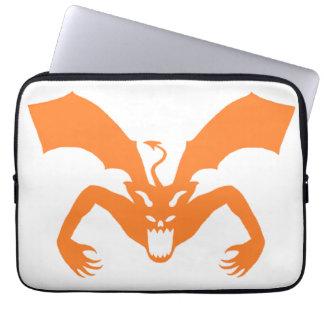 White And Orange Devil Laptop Computer Sleeve