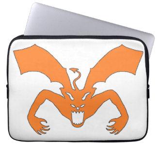 White And Orange Devil Laptop Sleeves