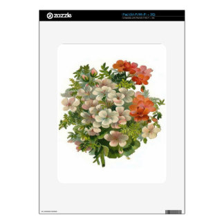 White and Orange Flowers iPad Decal