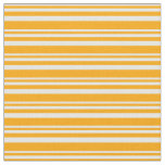 [ Thumbnail: White and Orange Lines Pattern Fabric ]