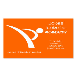 White and Orange Martial Arts Business Card