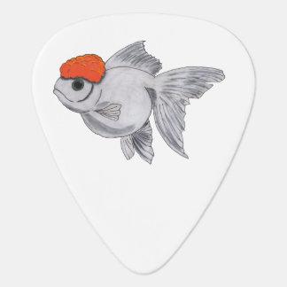 White and Orange Oranda Goldfish Aquarium Pet Fish Guitar Pick