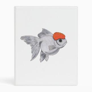 White and Orange Oranda Goldfish Aquarium Pet Fish Mini Binder