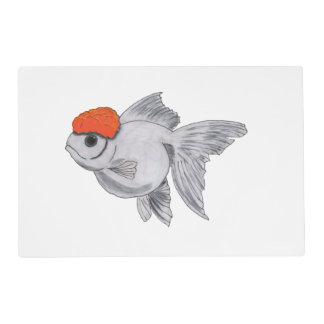 White and Orange Oranda Goldfish Aquarium Pet Fish Placemat