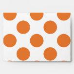 White and Orange Polka Dots Envelope