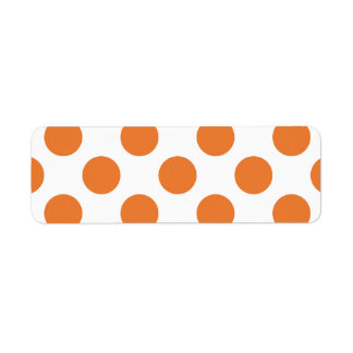 White and Orange Polka Dots Label