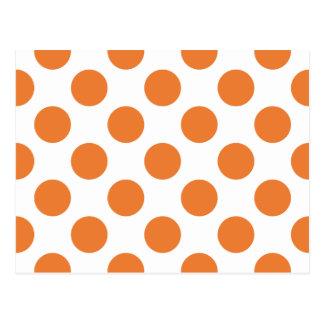 White and Orange Polka Dots Post Card