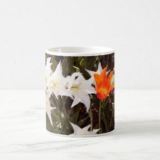 White and Orange Tulips Mug